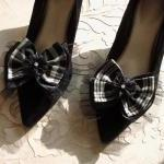 Black And White Plaid Silk ..