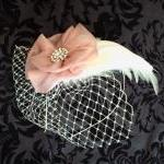 Eva Feather Fascinator With..